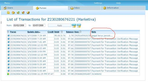 Transaksi WebMoney