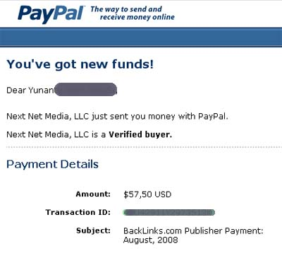 Backlinks Payment
