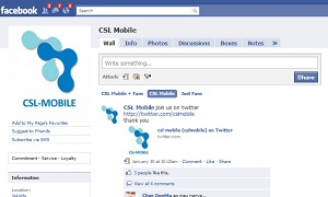 Join CSL Mobile Fans on Facebook